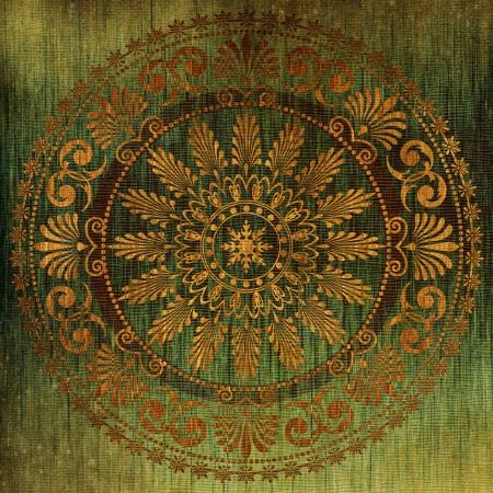 silk: art vintage grunge background with damask  patterns