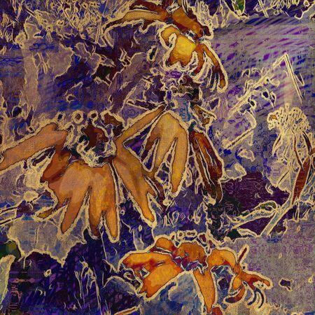 art grunge floral vintage background Stock Photo - 17371144