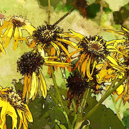 art grunge floral vintage background Stock Photo - 17371127