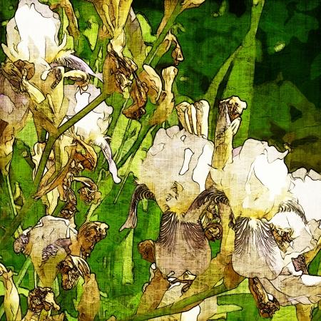 art grunge floral vintage background texture Stock Photo - 17371146