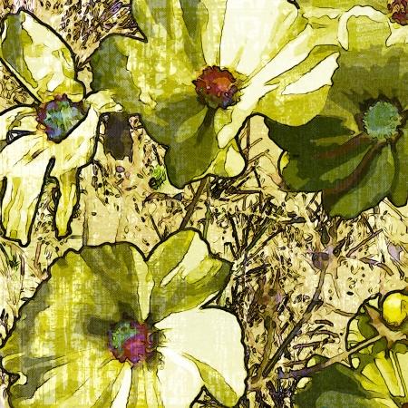 art grunge floral vintage background Stock Photo - 17371085