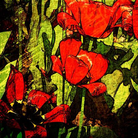 art grunge floral vintage background  photo
