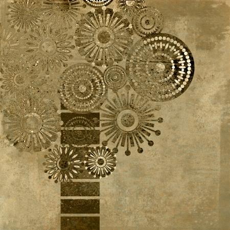Kunst Vintage bomen patroon achtergrond met ruimte voor tekst Stockfoto