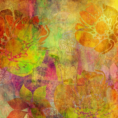art floral grunge background pattern Stock Photo - 17387905