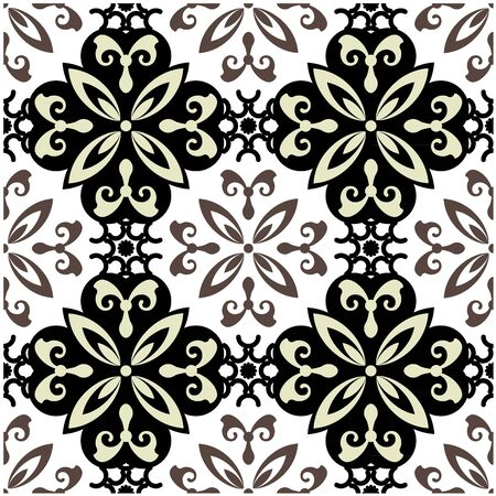 art vintage  seamless pattern background.   photo