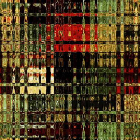 art glass colorful seamless texture background in green, red, brown and gold photo