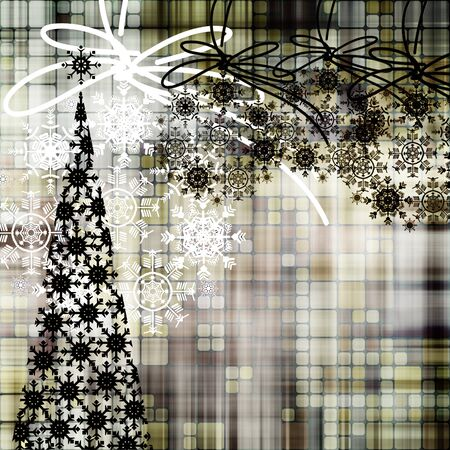 art christmas background with tree photo