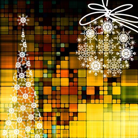 art christmas golden background photo