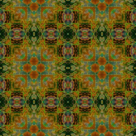 art eastern ornamental traditional pattern in green and brown photo