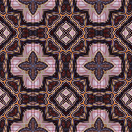 art nouveau geometric ornamental vintage pattern in violet photo