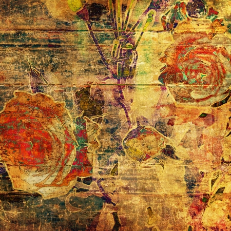 art floral grunge graphic background photo
