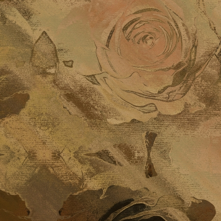 art floral autumn sepia background card photo