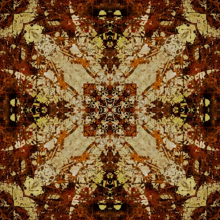 art eastern ornamental traditional pattern in brown color photo