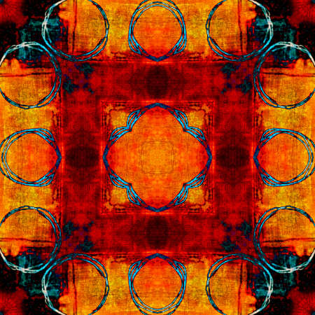 art eastern national traditional pattern in red colors Stock Photo - 17395423