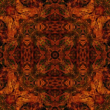 art nouveau colorful ornamental vintage pattern in red photo