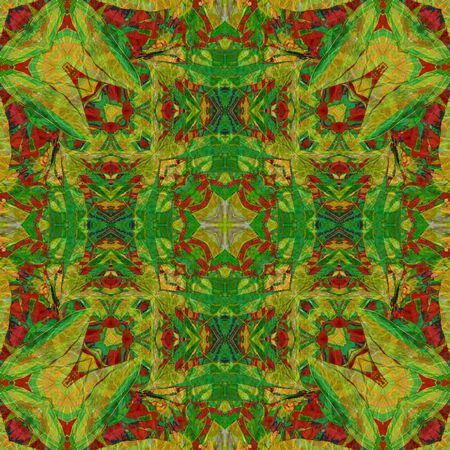 art nouveau colorful ornamental vintage pattern in green photo
