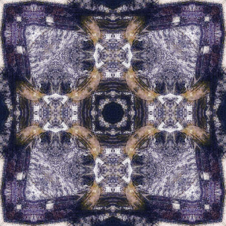 art nouveau colorful ornamental vintage pattern in blue photo
