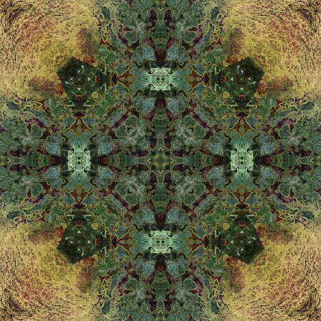 art nouveau: art nouveau colorful ornamental vintage pattern in green