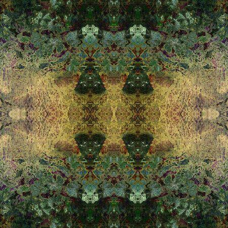 art deco frame: art nouveau colorful ornamental vintage pattern in green