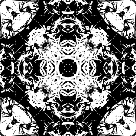 art nouveau colorful ornamental vintage pattern in black and white photo