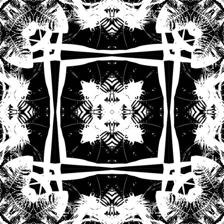 art nouveau colorful ornamental vintage pattern in black and white Stock Photo - 17395138