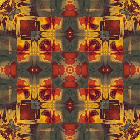 art nouveau colorful ornamental vintage pattern in red Stock Photo - 17395229