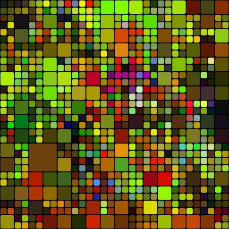 mosaic tiles: art abstract rainbow geometric pattern background with red and green Stock Photo