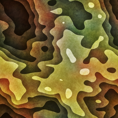 abstracted: art abstracted colorful chaotic pattern background in green Stock Photo