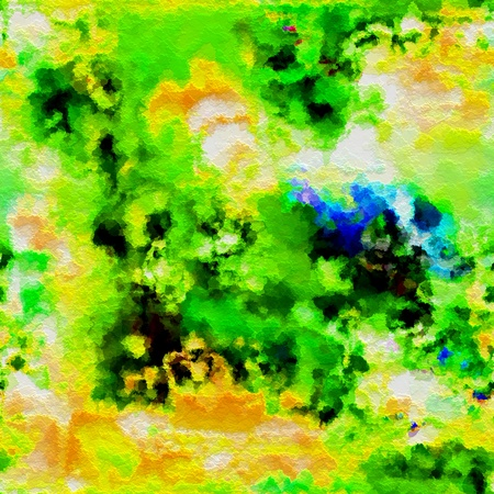 art abstract watercolor green and yellow background Stock Photo - 17395418