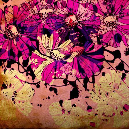 art floral ornament grunge background