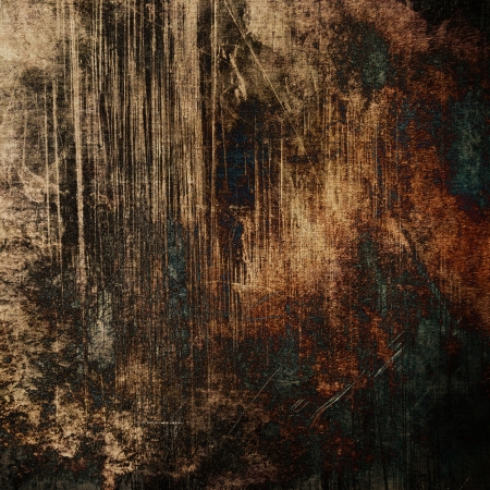 art abstract dark brown grunge textured background Stock Photo - 17397441