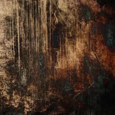 art abstract dark brown grunge textured background Stock Photo - 17397441