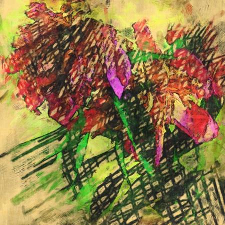art grunge floral vintage background texture photo
