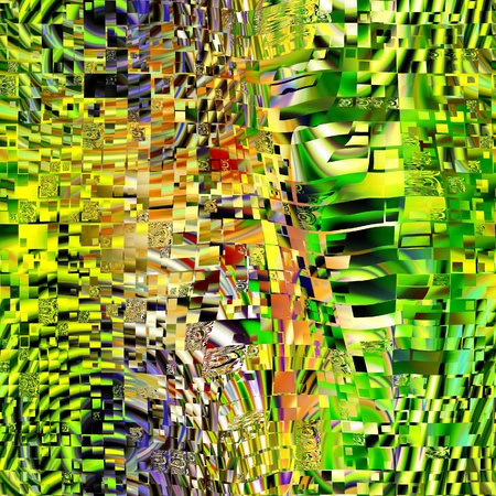 art glass colorful textured background in green and gold colors Stock Photo - 18924989