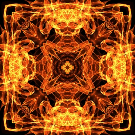 art vintage fiery geometric ornamental pattern photo