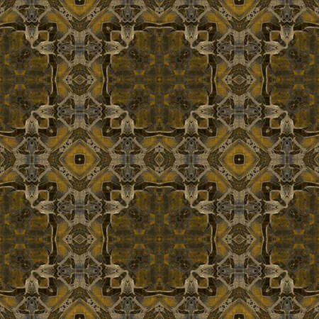 art nouveau geometric ornamental vintage pattern in brown photo
