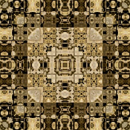 art vintage geometric ornamental pattern in sepia and brown colors photo