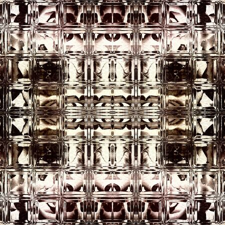 art vintage geometric ornamental pattern with brown and white colors photo