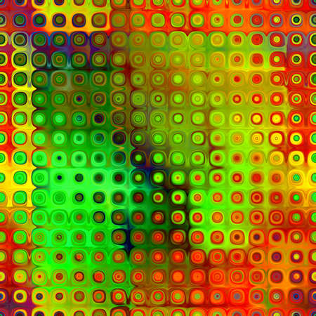 art abstract geometric textured bright green, golden and red background  photo