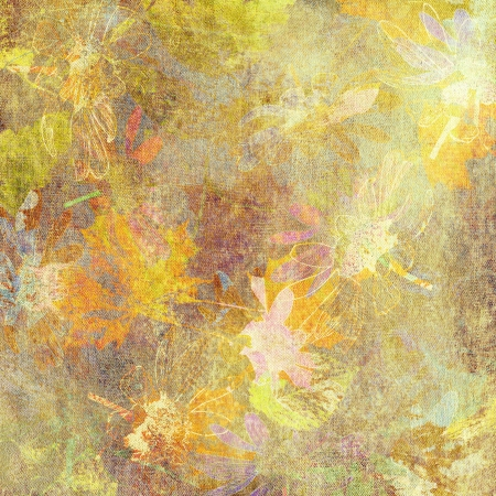 art golden autumn leaves background in pastel  with gold colors photo