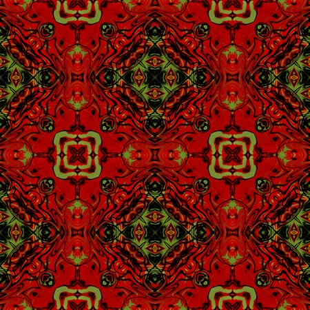 art colorful ornamental vintage seamless pattern in red Stock Photo - 21141747