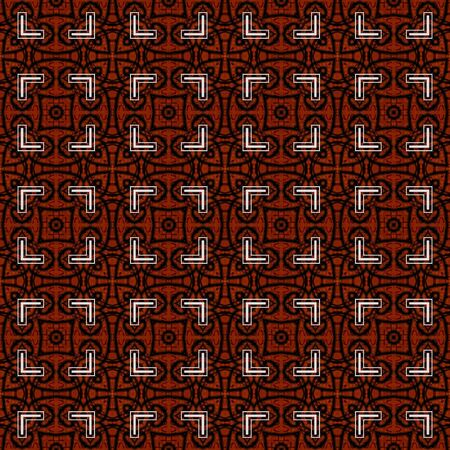 art eastern ornamental traditional pattern in dark red color photo