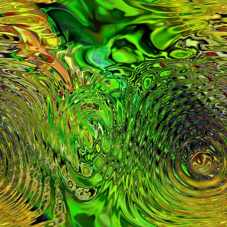 art glass colorful textured background in green and gold colors photo
