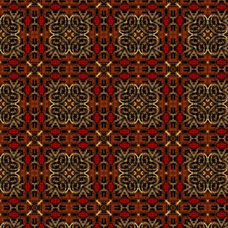 art eastern ornamental traditional pattern in brown and red colors photo