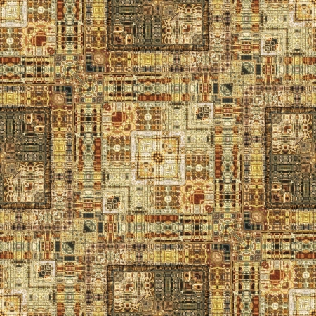 textiles: art vintage geometric ornamental pattern in light brown color