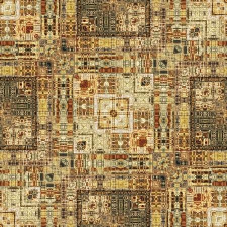 Kunst Vintage geometrisch patroon sier in lichtbruine kleur