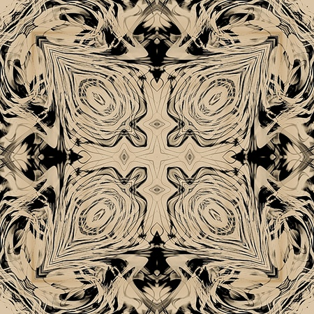 art ornamental vintage pattern, monochrome background in sepia, light brown and black colors photo