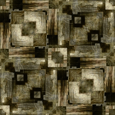 art vintage geometric ornamental pattern, background in sepia, grey and black colors photo