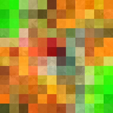 art abstract vibrant geometric pattern, background in orange, red and green colors photo