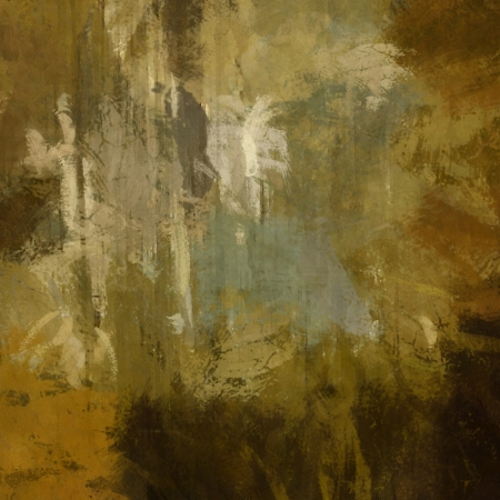 art abstract painted background in sepia and green photo